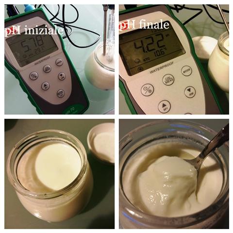 pH struttura yogurt